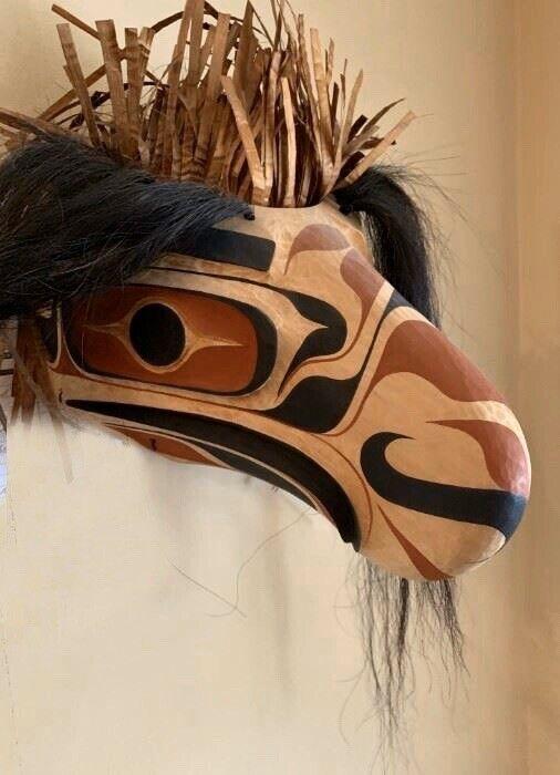 Eagle Mask by Micah Vogel ~ Pacific Northwest Coast ~ Makah