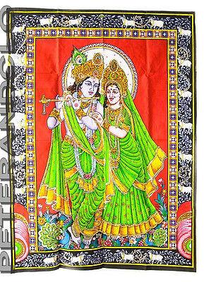 Batik Hanging Krishna And Radha Cotton 105x 74cm Hindu Peterandclo 4177