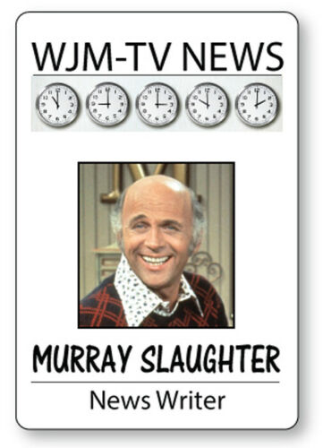MURRAY SLAUGHTER  MARY TYLER MOORE SHOW NAME BADGE HALLOWEEN COSPLAY MAGNET BACK