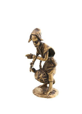 Statue Musician Brass Player of Djembe Tama Art and Bronze African AA791