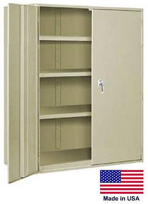Storage Cabinet Commercialindl - 12 Gauge Steel - 3 Shelf - Putty - 60x36x24 P