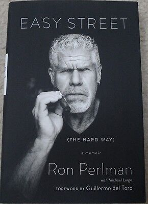 Ron Perlman  Autographed Book Easy Street    Sons Of Anarchy   Hellboy