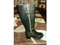 size 5 brand new black boots for sale