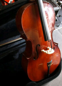 Menzel 4/4 Cello with Hard Case and Bow