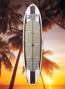 SUP 11ft Drift Oak Finish Stand Up Paddle Board + leash + paddle West Gosford Gosford Area Preview