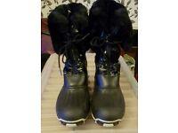 Black John Lewis snow boots size 39/40 UK size 6/7