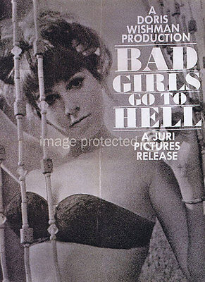 Bad Girls Go To Hell Vintage Movie 11X17 Poster