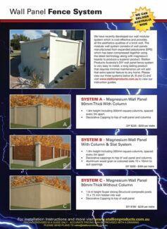 DIY Wall Panel Fencing Cannington Canning Area Preview
