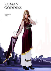 New Gorgeous womens Roman Toga Greek Goddess Fancy Dress costume-standard size