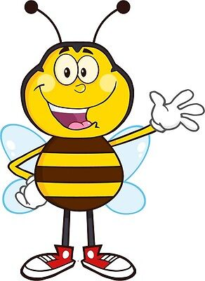 30 Custom Cartoon Bee Personalized Address Labels
