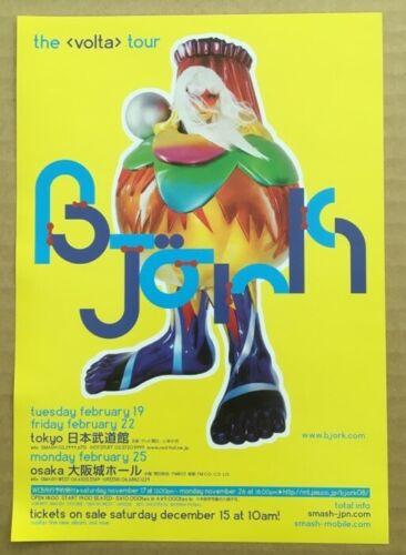 $0 ship! BJORK Japan PROMO flyer MINI poster VOLTA tour MORE LISTED Sugarcubes