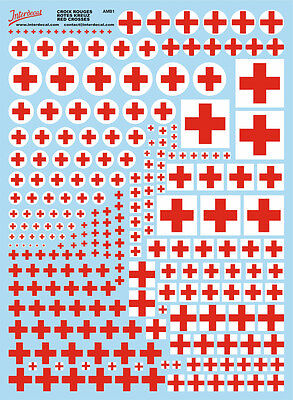 Rotes Kreuz (170x230 mm) Red Cross Decal Naßschiebebild Abziehbild AMB1