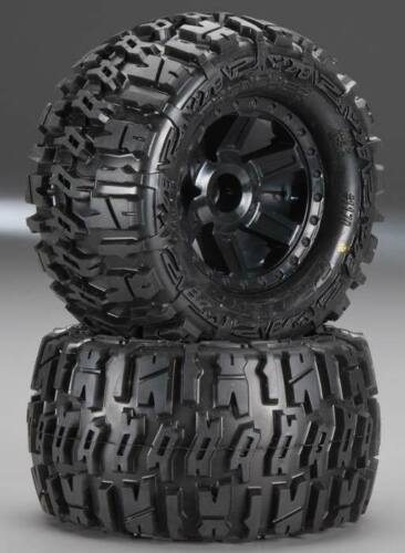 Pro-Line 1170-26 Trencher All Terrain Tires 2.8 Mounted On F-11 Stone Gray Rear