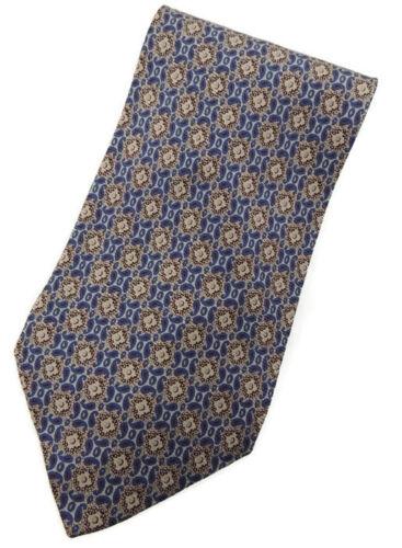 Giorgio Armani Cravatte Beige and Blue Mini Paisley Silk Neck Tie