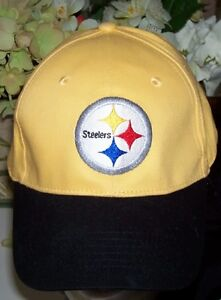 Pittsburgh Steeler Cap and Mini NFL Wilson Souvenir Football Set London Ontario image 2