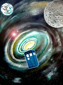 Dr. Who original painting