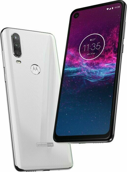 Motorola One Action - 128GB - Weiß (Ohne Simlock) (Dual-SIM)