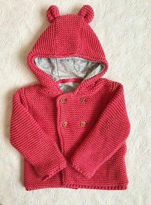 Marks & Spencer Baby Cardigan 0-3 Months Pink TD088 NN 19