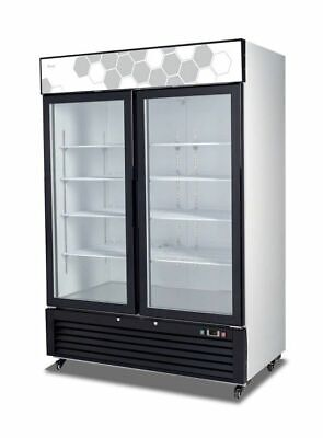 2 Glass Door 49 Cu Ft Display Freezer Merchandiser Migali C-49fmhc New 9629 Nsf