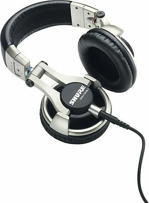 Shure SRH750DJ Headband Headphones with leather carrying bag