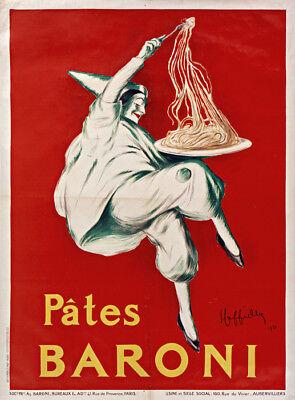 Pates Baroni vintage pasta food ad poster repro 12x16
