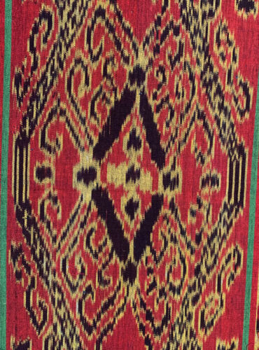 OLD INDONESIAN SUMBA WEAVING SILK IKAT PANEL