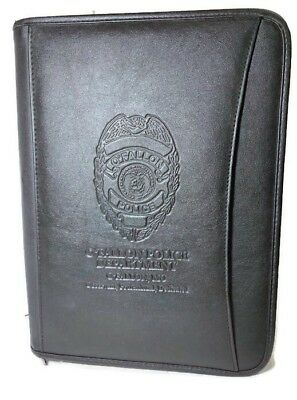 Rare Ofallon Mo Police Logo Black Portfolio Leeds Organizer Office Supply