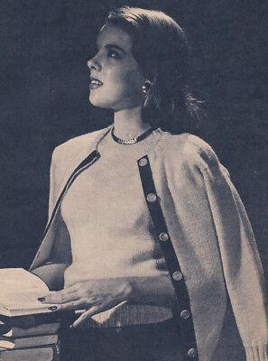 Vintage Knitting PATTERN Sweater Twin Set Cardigan Top