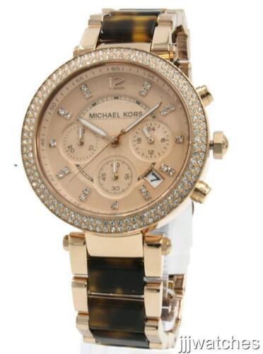 Michael Kors Women's Parker Rose Gold & Tortoise Watch MK553