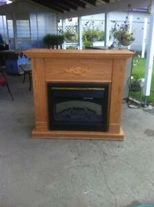 Electric Fireplace with flame, night light, heat & remote