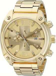 NEW - Diesel Champagne Dial Gold Tone Mens Watch - FREE DELIVERY