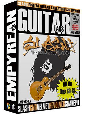 Slash Ultimate Guitar Tabs Cd R Digital Lessons Software Guns N Roses Win Mac