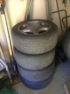 16 inch 5x114.3 alloy rims for sale (with tires)