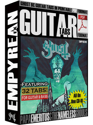 Compact Disc Sheet Music - Ghost B.C. Guitar Tabs PDF Sheet Music CD-R