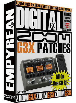 ZOOM G3X Patches Guitar Multi-Effects Presets Zoom Guitar Patches