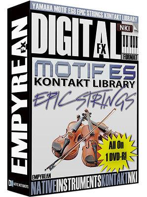 Yamaha Motif ES-8 EPIC Strings Kontakt Library Orchestral Sounds NKI Samples  ()