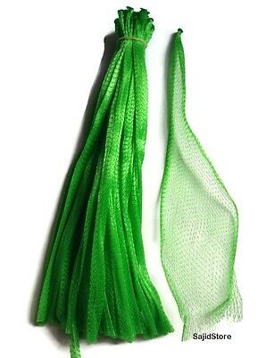 15 Green 25pc Reusable Nylon Poly Mesh Produce Net Grocery Fruit Vegetable Bags