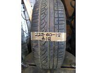 225-60-15 Kumho Ecsta 96V 4.5mm Part Worn Tyre