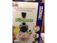 Dole Yonanas Frozen Dessert Maker Healthy Dessert Ice Cream Yogurt + Recipes