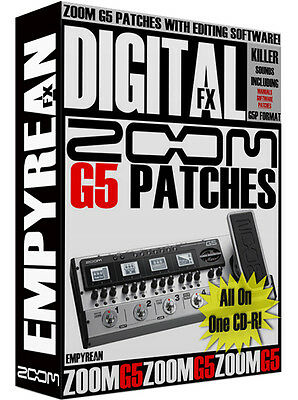 ZOOM G5 Patches Guitar Multi-Effects Presets  Zoom Guitar Patches