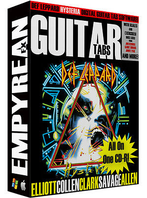 Def Leppard Hysteria Guitar Tab (Def Leppard HYSTERIA Guitar & Bass Tabs CD-R Digital Lessons Software Win Mac )