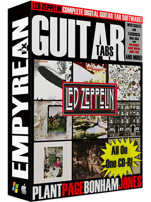 Led Zeppelin COMPLETE Guitar Tabs Jimmy Page CD-R Digital Lessons Software