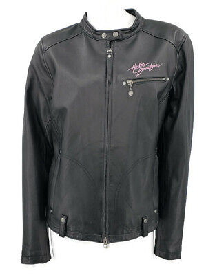 Harley Davidson Leather Jacket Womens XL Black Pink Label 98160-10VW, used for sale  Shipping to India