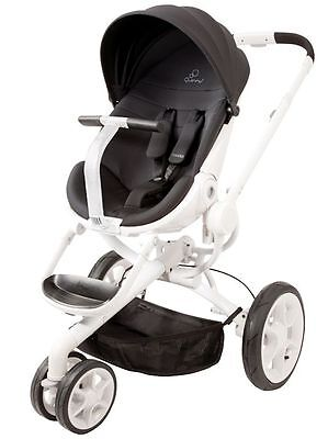 Quinny Moodd Auto Unfold Single Baby Stroller Black Irony Mood NEW SAME DAY SHIP