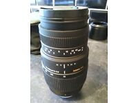 Sigma 70_300 1:4-5.6 zoom lens Nikon fit