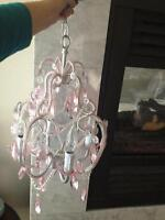Pink Bedroom Chrystal Chandelier Or Wedding Baby Room Ceiling