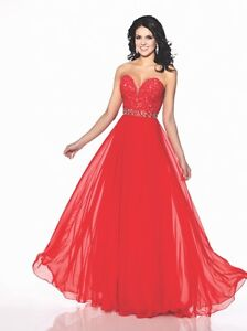 Two prom dresses Red one and white one