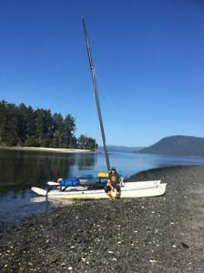 Hobie 17 with optional custom pedal drive unit for R2AK!