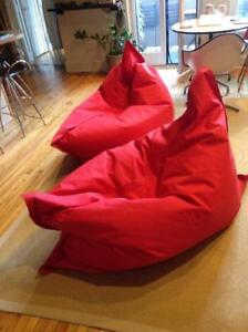 400 X2 Oversized Bean Bag Chairs Red