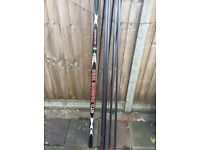 Fishing pole 12.5mts brand new avanti gtr with 4 top kits